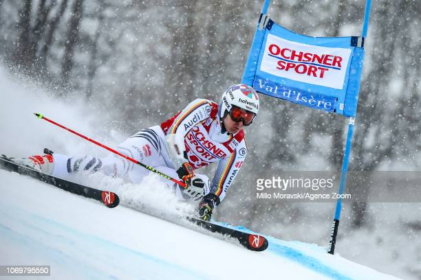 Loic Meillard of Switzerland during the Audi FIS Alpine Ski World Cup Men's Giant Slalom on December 8 2018 in Val d'Isère France