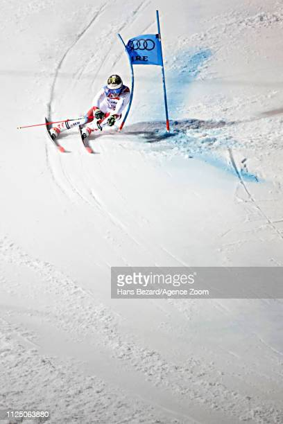 Loic Meillard of Switzerland in action during the FIS World Ski Championships Men's Giant Slalom on February 15, 2019 in Are Sweden.