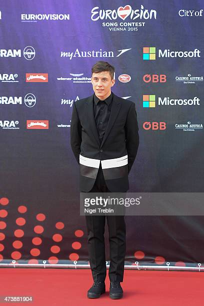Loic Nottet of Belgium arrives to the Opening Ceremony of the Eurovision Song Contest 2015 on May 17 2015 in Vienna Austria