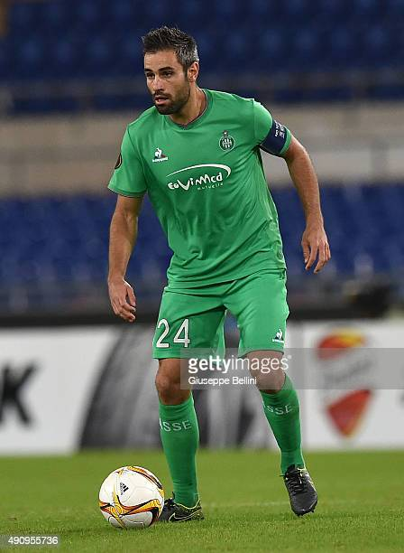 Loic Perrin of AS SaitEtienne in action during the UEFA Europa League match between SS Lazio and AS SaintEtienne at Olimpico Stadium on October 1...
