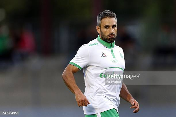 Loic Perrin of AS St Etienne during the preseason friendly match between AS saint Etienne v PSV Eindhoven on July 13 2016 at the Stade de Thonon in...