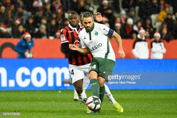 Loic Perrin of Saint Etienne during the Ligue 1 match between Nice and Saint Etienne at Allianz Riviera on December 16 2018 in Nice France