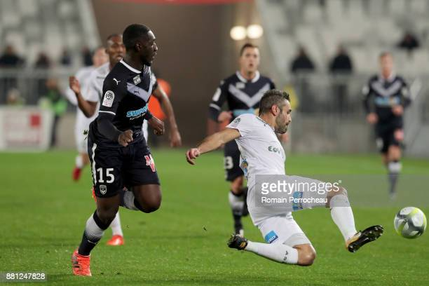 Loic Perrin of Saint Etienne in action during the Ligue 1 match between FC Girondins de Bordeaux and AS SaintEtienne at Stade Matmut Atlantique on...