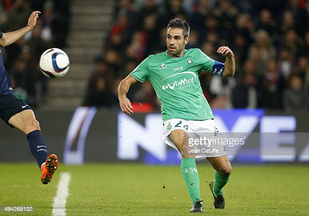 Loic Perrin of SaintEtienne in action during the French Ligue 1 match between Paris SaintGermain and AS SaintEtienne at Parc des Princes stadium on...