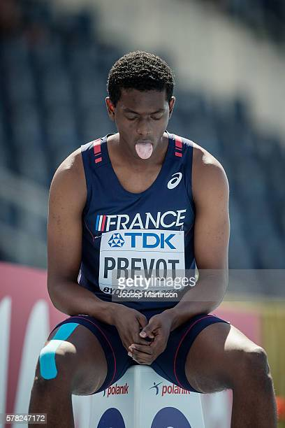 Loic Prevot from France competes in men's 200 metres during the IAAF World U20 Championships at the Zawisza Stadium on July 21 2016 in Bydgoszcz...