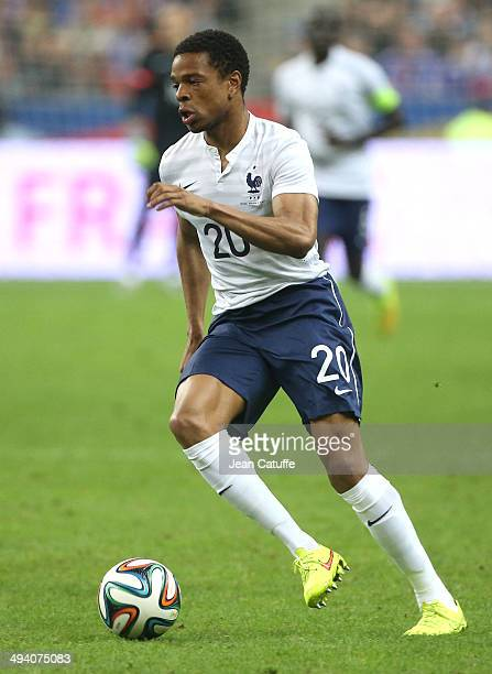Loic Remy of France in action during the international friendly match between France and Norway at Stade de France on May 27 2014 in SaintDenis near...