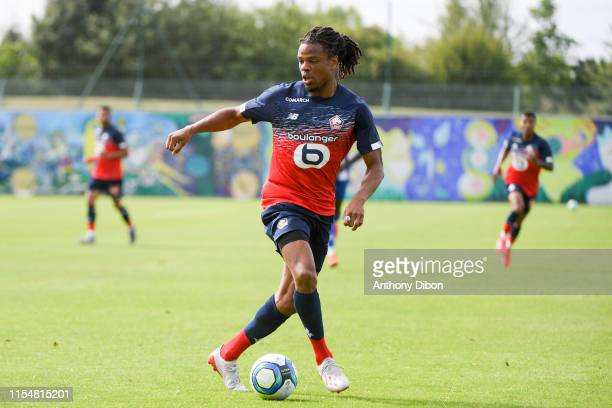 Loic Remy of Lille during the Friendly match between Lille and Dunkerque at Domaine de Luchin on July 9, 2019 in Lille, France.