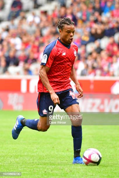 Loic Remy of Lille during the Ligue 1 match between Lille and Guingamp on August 26, 2018 in Lille, France.