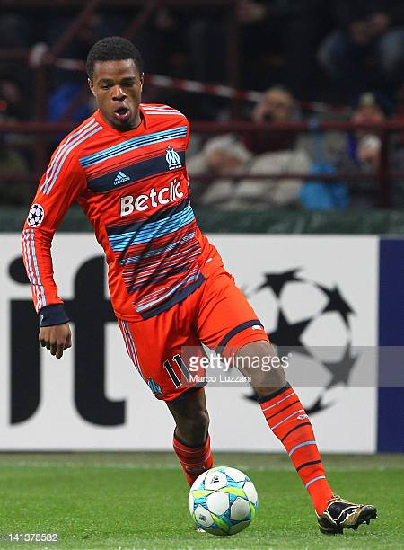 Loic Remy of Olympique de Marseille in action during the UEFA Champions League Round of 16 second leg match between FC Internazionale Milano and...