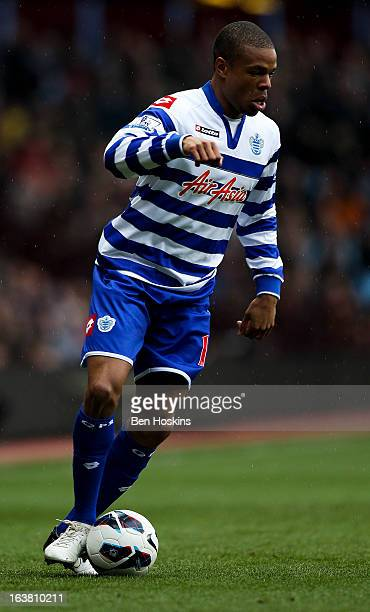 Loic Remy of QPR in action during the Barclays Premier League match between Aston Villa and Queens Park Rangers at Villa Park on March 16 2013 in...