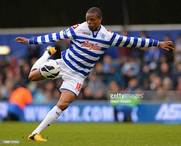 Loic Remy of Queens Park Rangers during the Premier League match between Queens Park Rangers and Newcastle United at Loftus Road on May 12 2013 in...