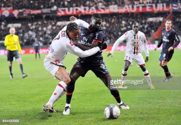 Loic REMY / Younousse SANKHARE PSG / Nice 13e journee Ligue 1 Parc des Princes Paris Photo Dave Winter / Icon Sport
