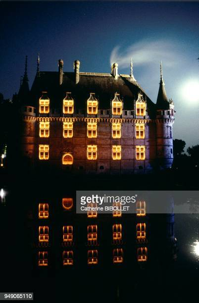 the castle of AzayleRideau A palace of a thousand and one nights transported into the mist of the Indre emphasized by the lighting of the Imaginaires...