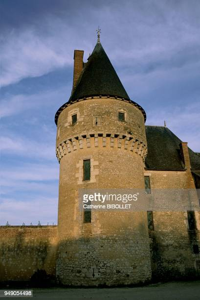 The fortified castle of Fougères-sur-Bièvre. The tower built in the XVth century is characterized by its late medieval aspect . La vallée de la...