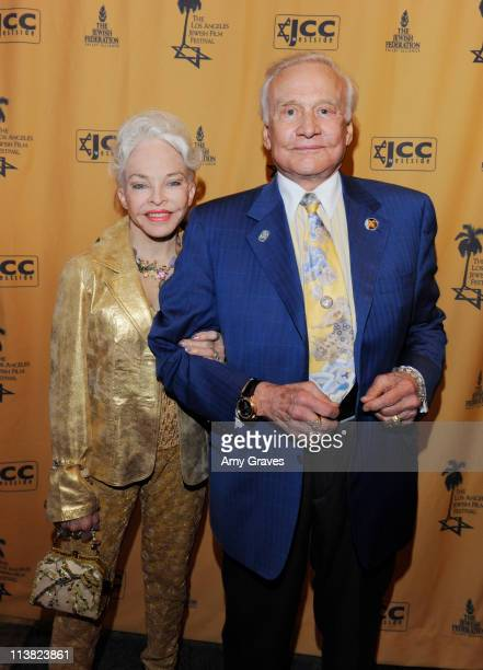 Lois Aldrin and astronaut Buzz Aldrin attend the Los Angeles 2011 Jewish Film Festival at Writers Guild Theater on May 5 2011 in Beverly Hills...