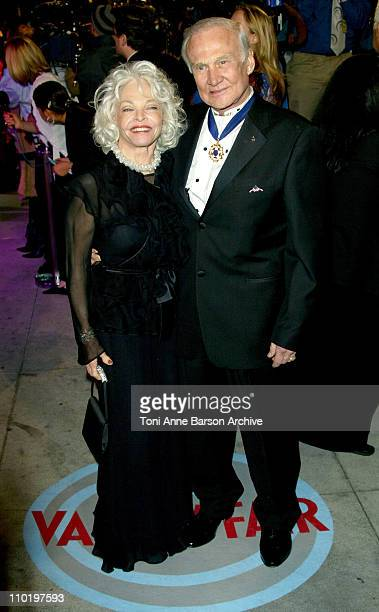 Lois Aldrin and Buzz Aldrin during 2004 Vanity Fair Oscar Party Arrivals at Mortons in Beverly Hills California United States