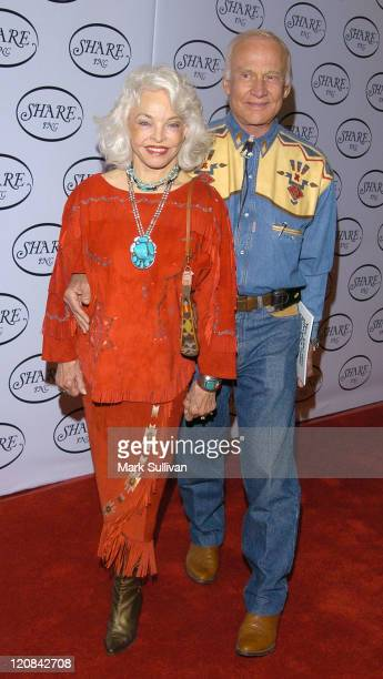 Lois Aldrin and Buzz Aldrin during 51st Annual Boomtown Party at Century Plaza Hotel in Century City California United States