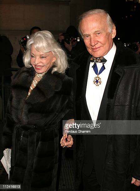 Lois Aldrin and Buzz Aldrin during Andy Wong's Chinese New Year Party at Old Billingsgate Market London in London Great Britain