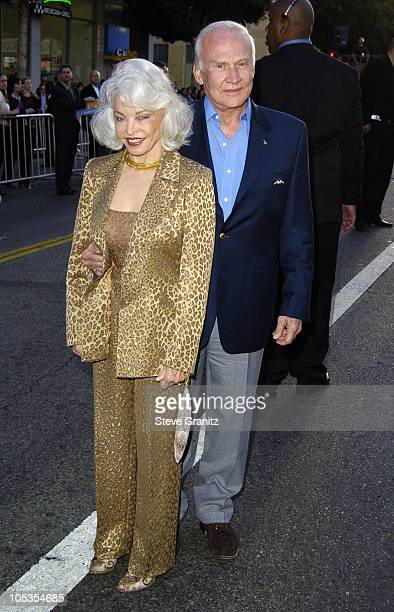 Lois Aldrin and Buzz Aldrin during Ladder 49 World Premiere Arrivals at El Capitan Theatre in Hollywood California United States