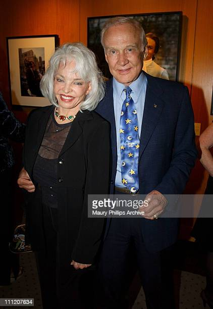 Lois Aldrin and Buzz Aldrin during Reception Celebrating The Opening of Imaging and Imagining The Film World of Pat York at Academy of Motion Picture...