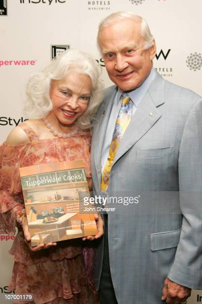 Lois Aldrin and Buzz Aldrin during Tupperware and In Style Host a Party Benefiting the Drama Department Youth Ticket Fund at W Hotel in Westwood...