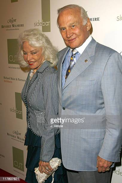 Lois Aldrin and Buzz Aldrin during Wolfgang Puck Cut Steakhouse Opening at Regent Beverly Wilshire in Beverly Hills California United States