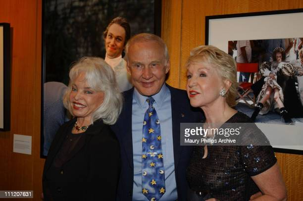 Lois Aldrin Buzz Aldrin and Pat York during Reception Celebrating The Opening of Imaging and Imagining The Film World of Pat York at Academy of...