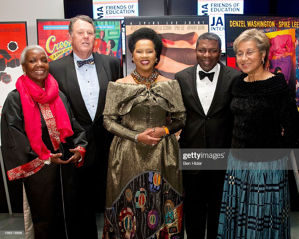Lois Betts, Roland W. Betts, Sherry Bronfman, Noel Hankin and Marquita Poole Eckert attend The Museum of Modern Art's Jazz Interlude Gala at MOMA on December 12, 2012 in New York City.