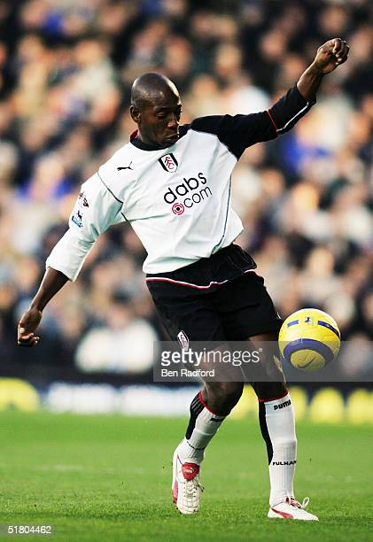 Lois Boa Morte of Fulham in action during the Barclays Premiership match between Fulham and Chelsea on November 13, 2004 at Craven Cottage in London,...