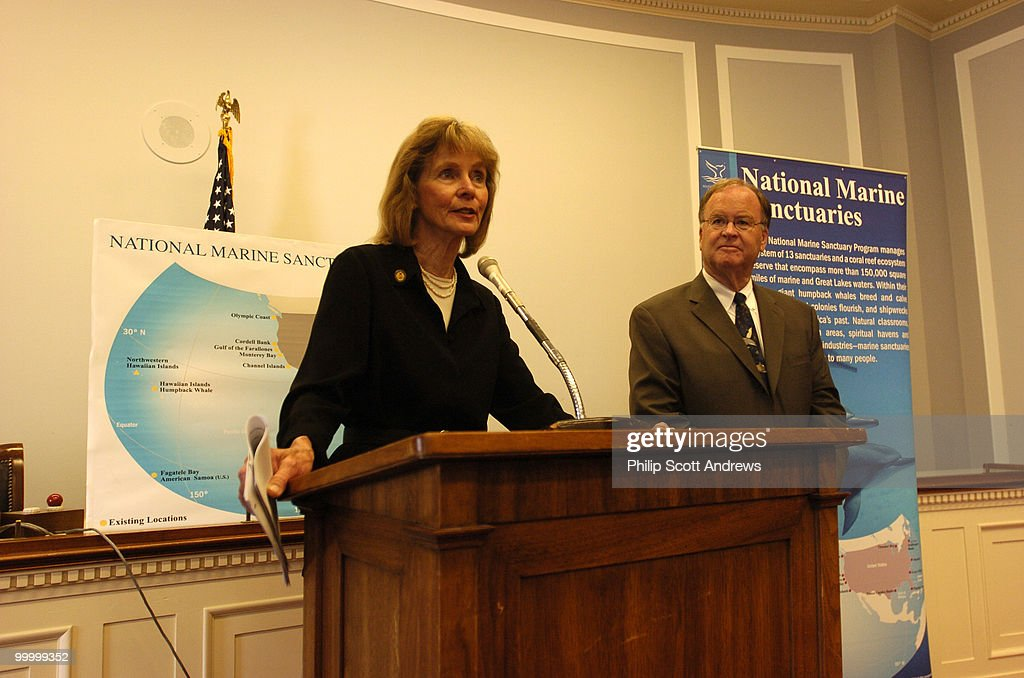 Lois Capps, D-Calif. holds a press conference to announce the formation of a new Congressional Caucus on National Marine Sanctuaries.