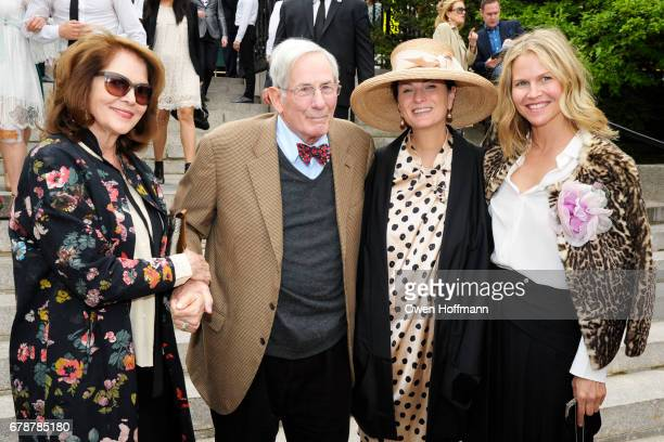 Lois Chiles Richard Gilder Marina Rust and Shirin von Wulffen attend the 35th Annual Frederick Law Olmsted Awards Luncheon at the Conservatory Garden...