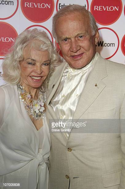 Lois Driggs Cannon and Buzz Aldrin during Entertainment Weekly Magazine 4th Annual PreEmmy Party Arrivals at Republic in Los Angeles California...
