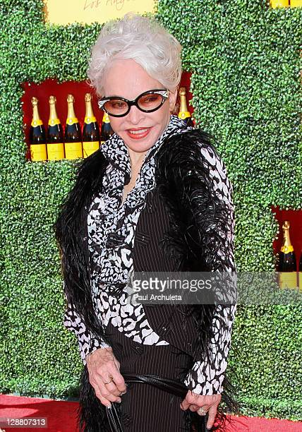 Lois Driggs Cannon arrives at the 2nd annual Veuve Clicquot polo classic at Will Rogers State Historic Park on October 9, 2011 in Pacific Palisades,...