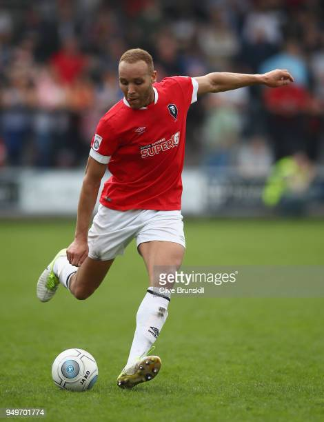 Lois Maynard of Salford City in action during the National League North match between Salford City and Boston at Peninsula Stadium on April 21, 2018...