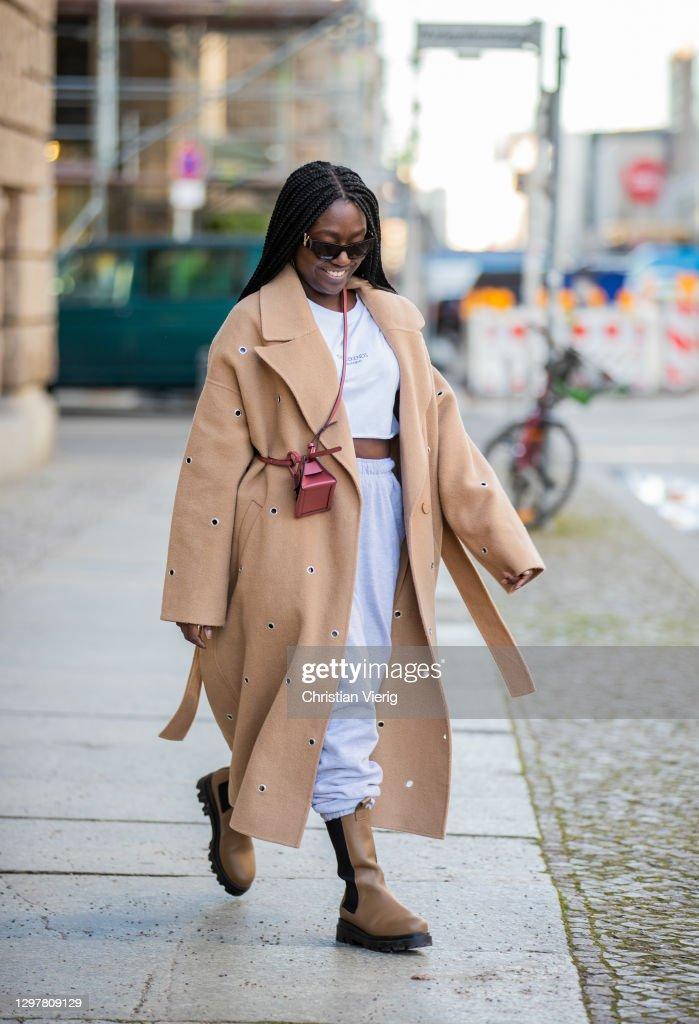 Street Style - Berlin - January 22, 2021 : News Photo