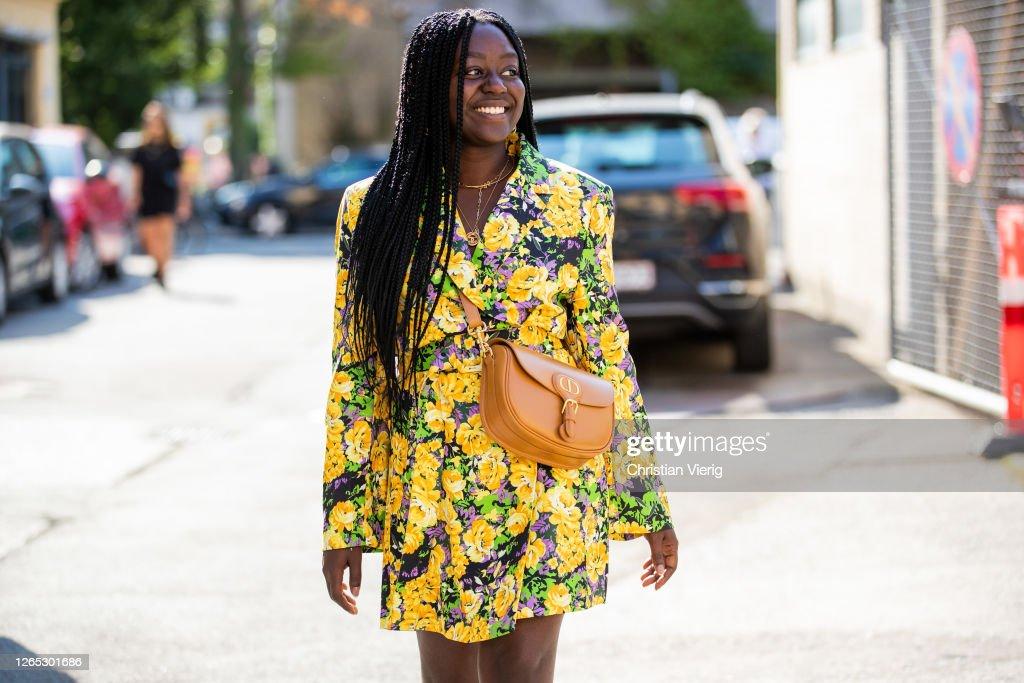 Street Style - Day 3 - Copenhagen Fashion Week Spring/Summer 2021 : News Photo