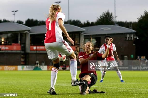 Lois Schenkel Of Ajax Women Kylie Allyssa Strom Sparta Praha During The UEFA Champions