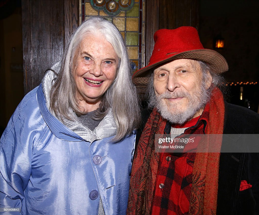 Lois Smith and David Margulies attend the opening night after party for the Playwrights Horizons New York premiere production of 'Marjorie Prime' at Tir Na Nog Irish Pub & Grill on December 14, 2015 in New York City.
