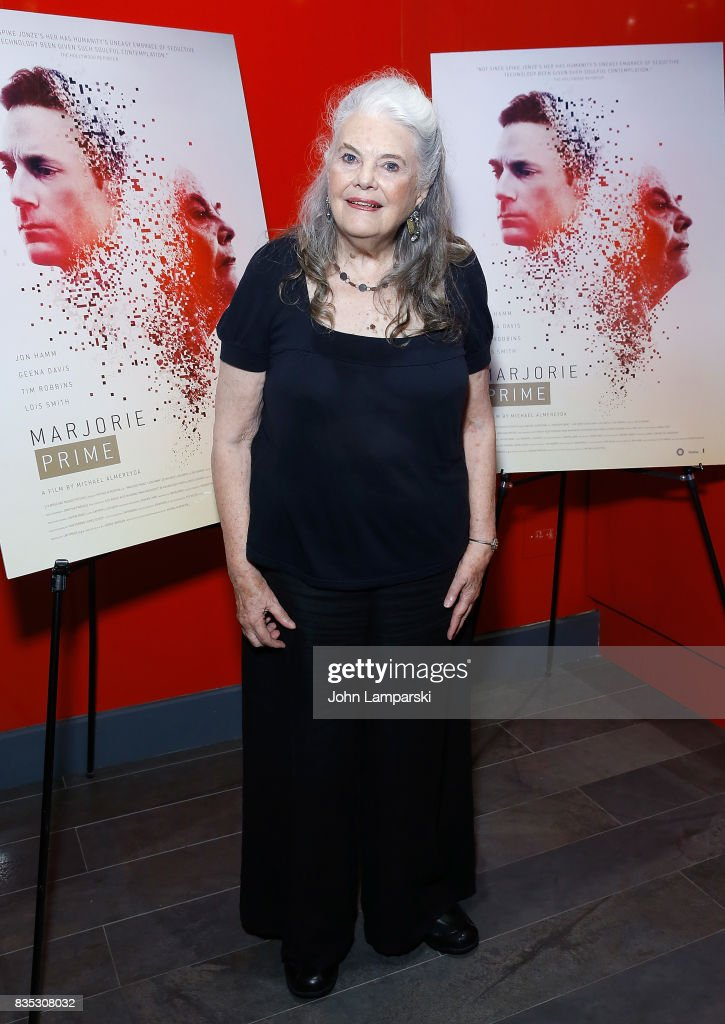 Lois Smith attends 'Marjorie Prime' New York premiere on August 18, 2017 in New York City.