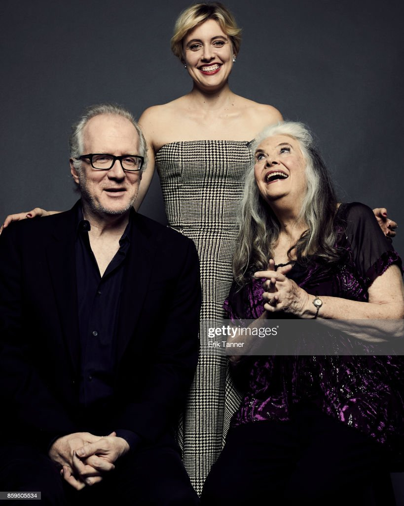 Lois Smith, Greta Gerwig, and Tracy Letts of 'Lady Bird' pose for a portrait at the 55th New York Film Festival on October 8, 2017.