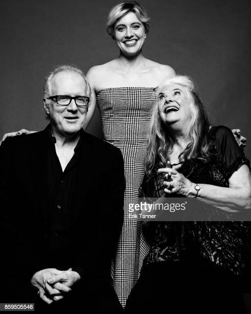 Lois Smith Greta Gerwig and Tracy Letts of 'Lady Bird' pose for a portrait at the 55th New York Film Festival on October 8 2017