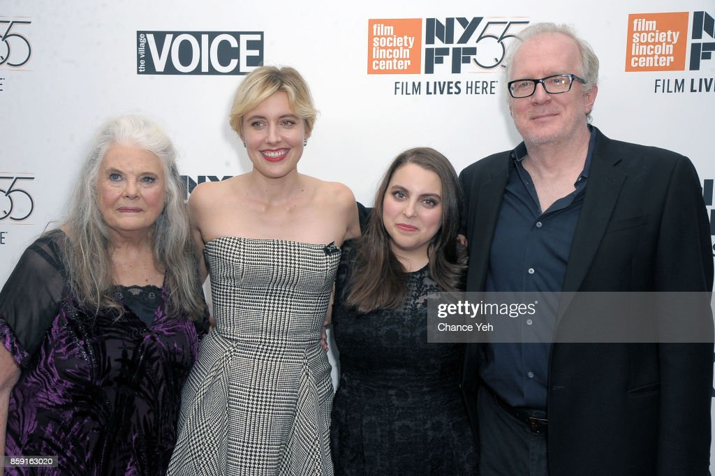 Lois Smith, Greta Gerwig, Beani Feldstein and Tracy Letts attend 'Lady Bird' screening during 55th New York Film Festival at Alice Tully Hall on October 8, 2017 in New York City.
