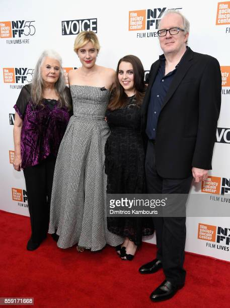Lois Smith Greta Gerwig Beanie Feldstein and Tracy Letts attend 55th New York Film Festival screening of 'Lady Bird' at Alice Tully Hall on October 8...