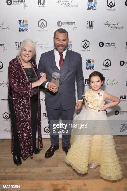 Lois Smith Jordan Peele and Brooklyn Prince pose backstage during IFP's 27th Annual Gotham Independent Film Awards on November 27 2017 in New York...