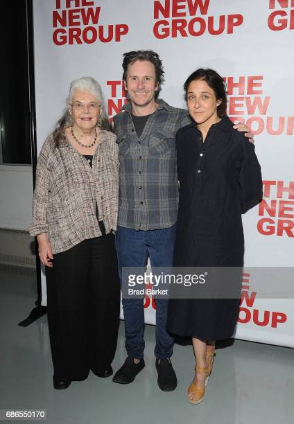 Lois Smith Josh Hamilton and Lily Thorne attend the The Whirligig OffBroadway Opening Night at Social Drink and Food Club Terrace on May 21 2017 in...