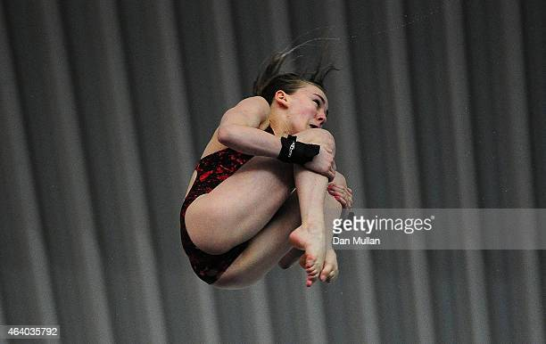 Lois Toulson of City of Leeds Diving Club competes in the Womens Platform Final during Day Two of the British Gas Diving Championships at the Life...