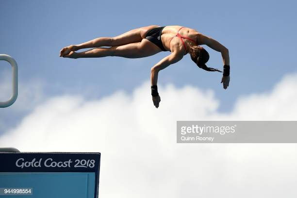 Lois Toulson of England competes in the Women's 10m Platform Diving Preliminary on day eight of the Gold Coast 2018 Commonwealth Games at Optus...