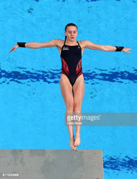 Lois Toulson of Great Britain competes during the Women's Diving 10M Platform preliminary round on day five of the Budapest 2017 FINA World...