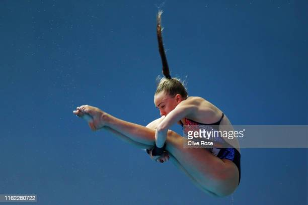 Lois Toulson of Great Britain competes in the Women's 10m Platform Semifinal on day five of the Gwangju 2019 FINA World Championships at Nambu...