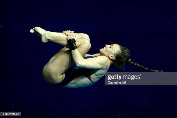 Lois Toulson of Great Britain competes in the Women's 10m Platform Final on day six of the Gwangju 2019 FINA World Championships at Nambu...